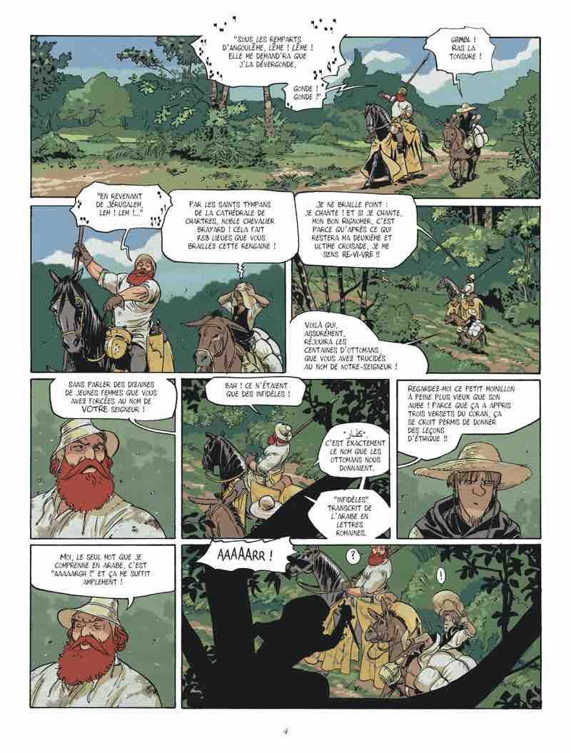 Chevalier Brayard : une délicieuse croisade de Zidrou et Porcel